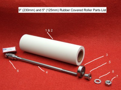 Rubber roller parts